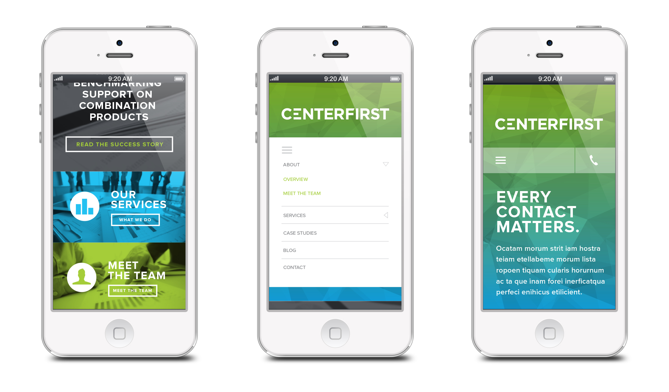 Centerfirst Mobile Website
