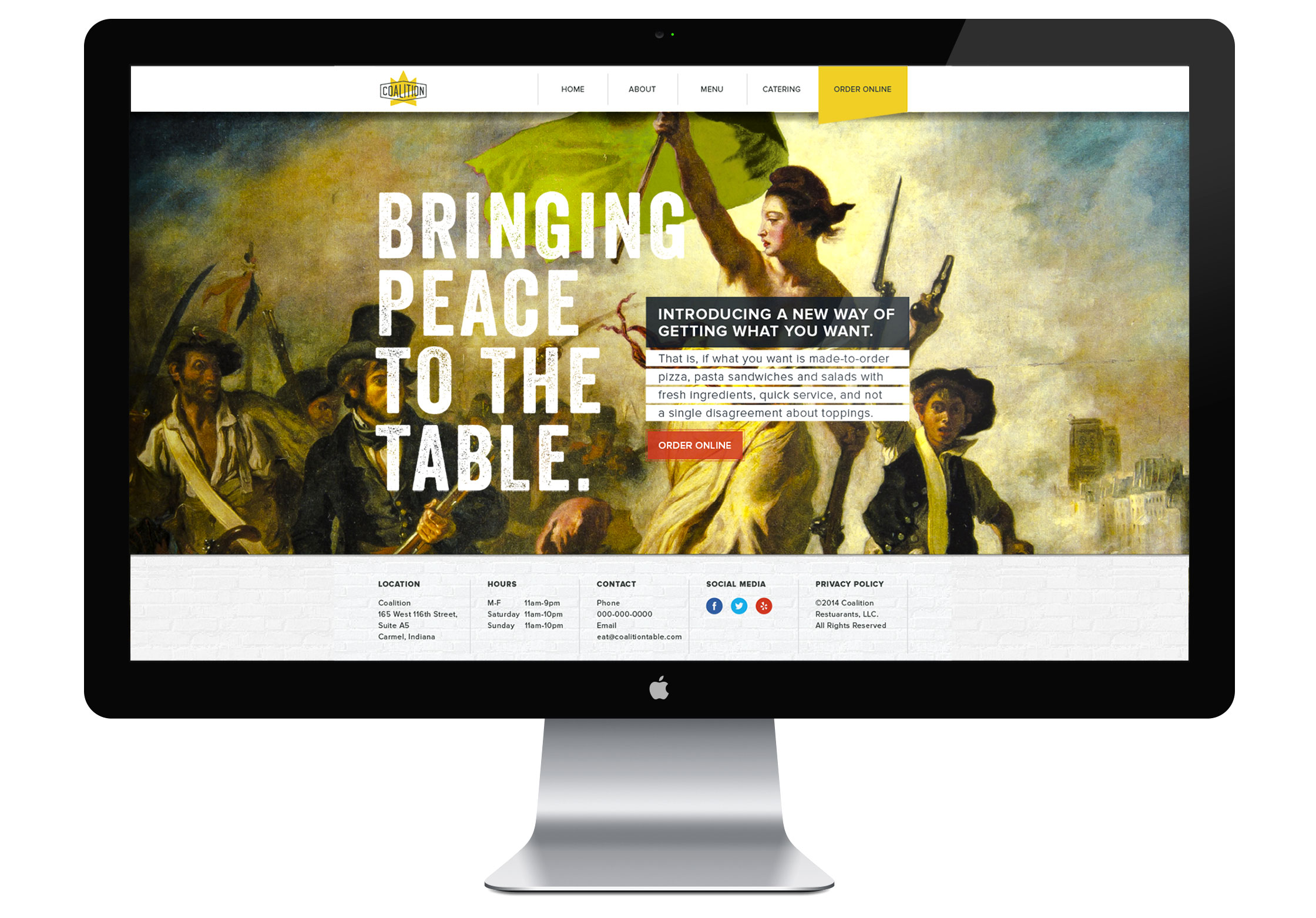 Coalition Desktop Website