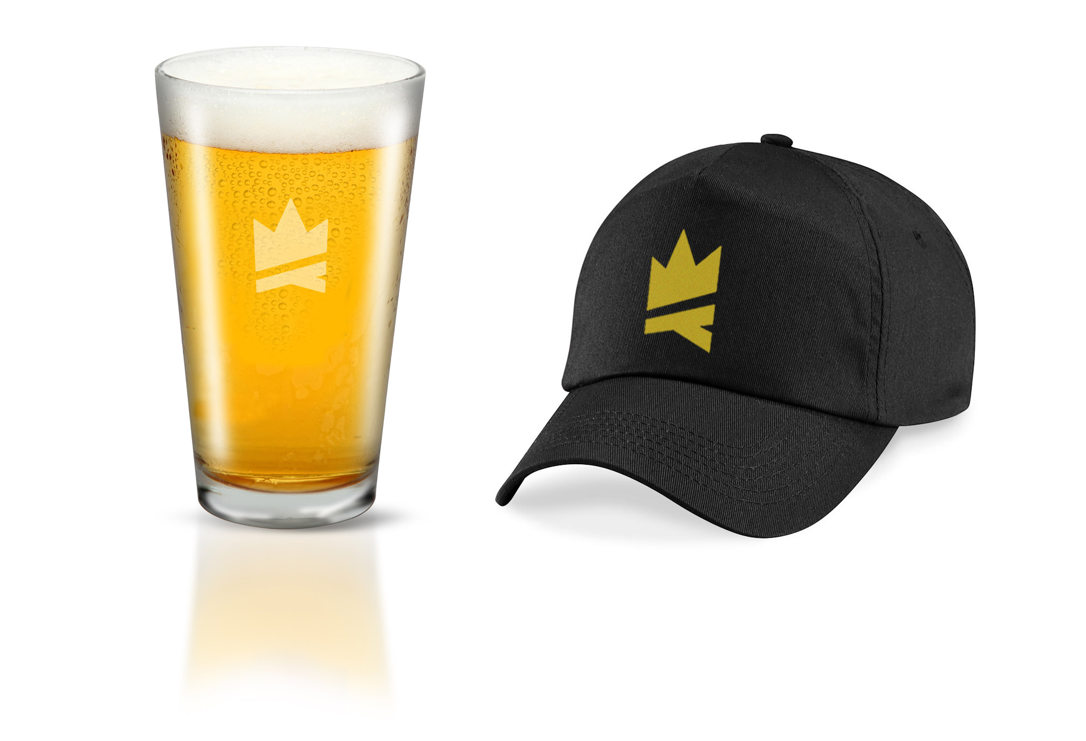 Coalition Hat and Pint Glass