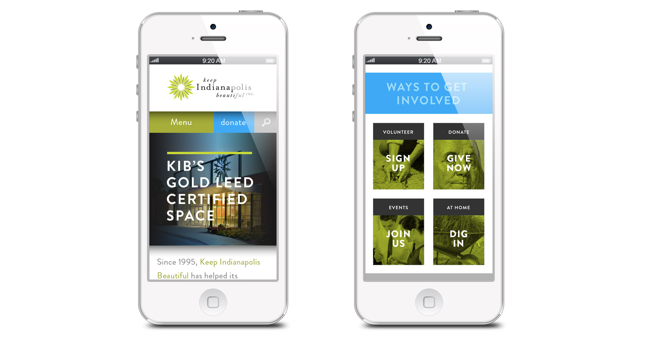 Keep Indianapolis Beautiful Mobile Website