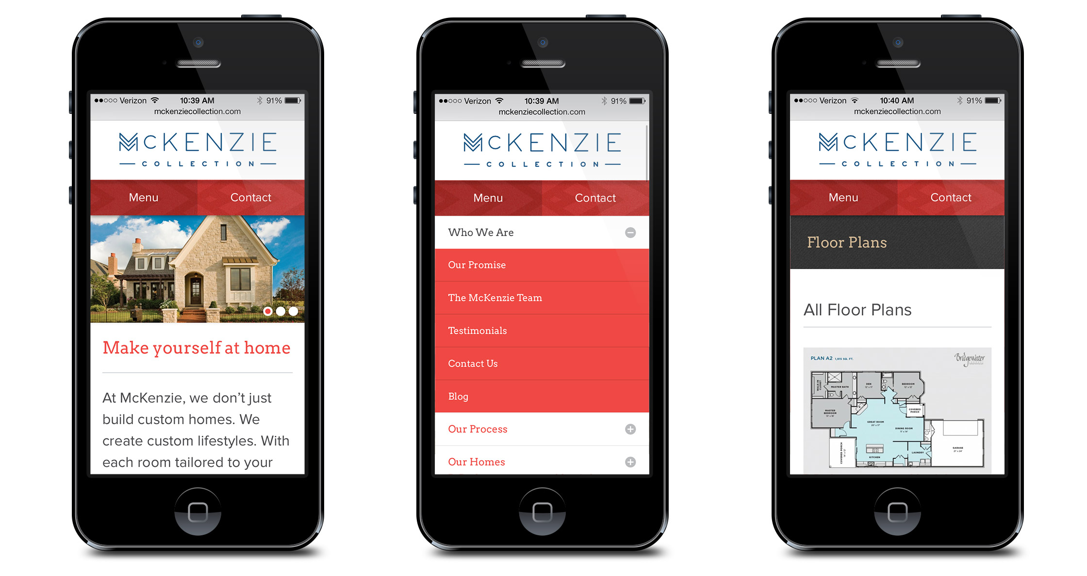 McKenzie Collection Mobile Website
